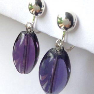 Pendientes violeta cristal Verili