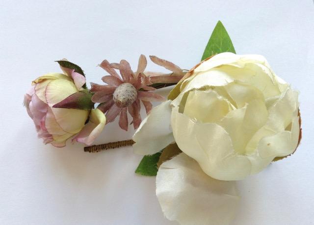 Tocados Rosa, cáctus y peonía